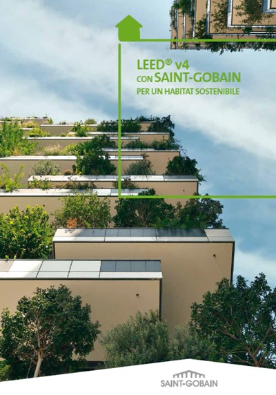 cover brochure LEED® v4 con Saint-Gobain